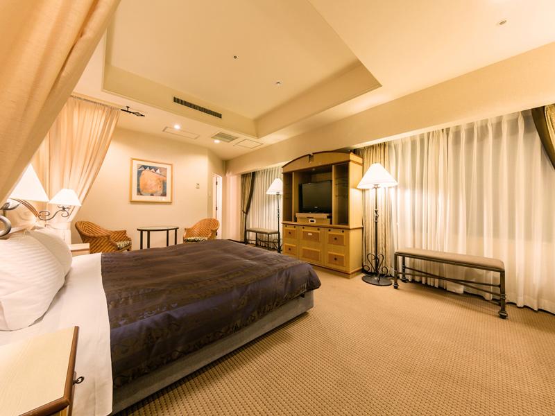 【DXダブルルーム】部屋によって家具の位置や寝具のタイプが異なる場合があります